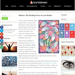 Mudras: The Healing Power in your Hands