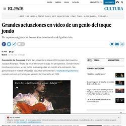 Muere Paco de Lucía: Grandes actuaciones en vídeo de un genio del toque jondo