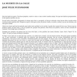 LA MUERTE EN LA CALLE DE JOSÉ FELIX FUENMAYOR