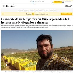 La muerte de un temporero en Murcia: jornadas de 11 horas a más de 40 grados y sin agua