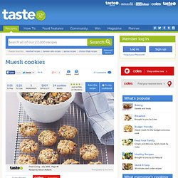 Muesli Cookies Recipe