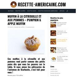Muffin à la citrouille et aux pommes - Pumpkin & apple muffin