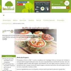 Muffin de espinafre e queijo - Lar Natural
