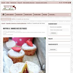 Muffins a l' amande avec des fraises