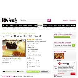 Muffins au chocolat coulant : la recette avec L'Internaute