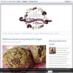 Muffins au chocolat et aux graines de lin {vegan}