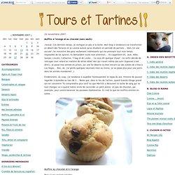 Muffins à l'orange et au chocolat (sans oeufs)