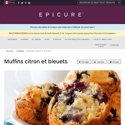 Muffins citron et bleuets