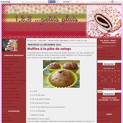 Muffins à la pâte de coings