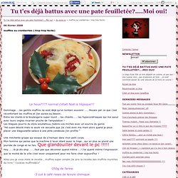 Muffins au cranberries ( trop trop facile)