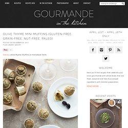 Olive Thyme Mini Muffins (Gluten-Free, Grain-Free, Paleo)