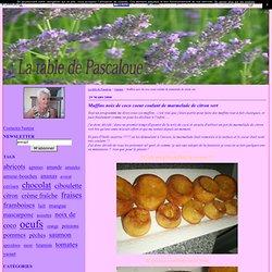 Muffins noix de coco coeur coulant de marmelade de citron vert - La table de Pascaloue