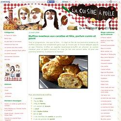 Muffins moelleux aux carottes et fêta, parfum cumin et pavot - La cuisine à poêle