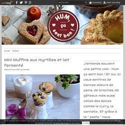 Mini Muffins aux myrtilles et lait fermenté