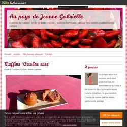 """Muffins """"Octobre rose"""" - Au pays de Jeanne Gabrielle"""