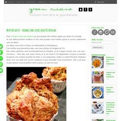 Muffins datte – orange sans sucres ajoutés