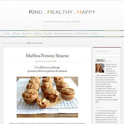Muffins Pomme Sésame - Kind∙Healthy∙Happy