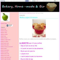 Muffins vegan à la banane