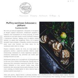 Muffiny waniliowo-kokosowe z jabłkami - Czysty Talerz