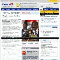 Mugabe blasts Mandela