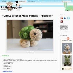 """TURTLE Crochet Along Pattern – """"Sheldon"""""""