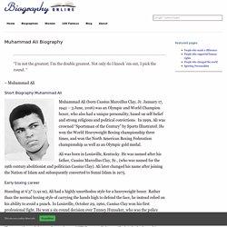Muhammad Ali Biography -Biography Online