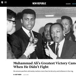 Muhammad Ali's Greatest Victory Came When He Didn't Fight