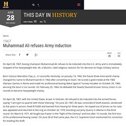 Muhammad Ali refuses Army induction - Apr 28, 1967