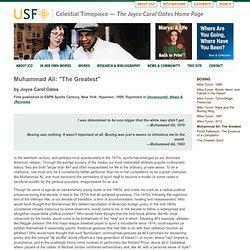"Muhammad Ali: ""The Greatest"""