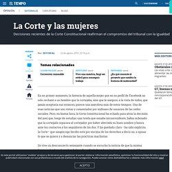 La Corte y las mujeres - EDITORIAL EL TIEMPO - Editorial - Opinión