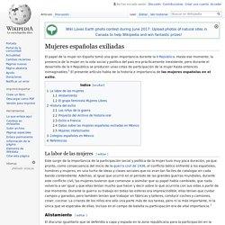 Mujeres españolas exiliadas