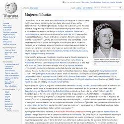 Mujeres filósofas
