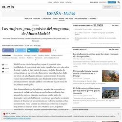 Las mujeres, protagonistas del programa de Ahora Madrid