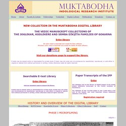Muktabodha On-line Digital Library Overview & login page