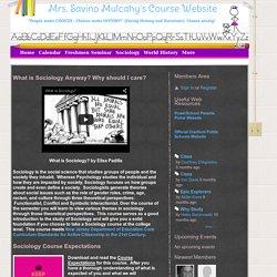 Mrs. Savino Mulcahy's Course Website - Sociology
