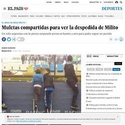 Diego Milito: Muletas compartidas para ver la despedida de Milito