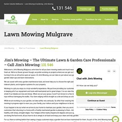 Lawn Mowing Mulgrave