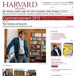 Harvard's Sendhil Mullainathan on behavior and poverty