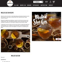 Mulled Sloe Gin Recipe - News - Gin Festival