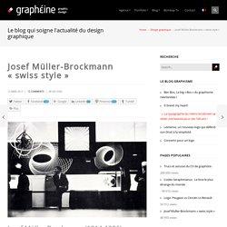 "Josef Müller-Brockmann ""swiss style"""