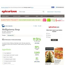 Mulligatawny Soup Recipe at Epicurious
