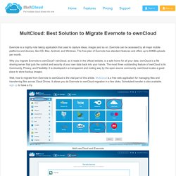 MultCloud: Best Solution to Migrate Evernote to ownCloud