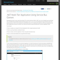 .NET Multi-Tier Application - Windows Azure Tutorial
