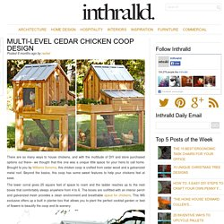 Multi-Level Cedar Chicken Coop Design