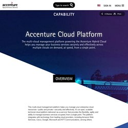 Multi-Cloud Platform – Accenture