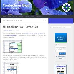 Multi-Column Excel Combo Box - Contextures Blog