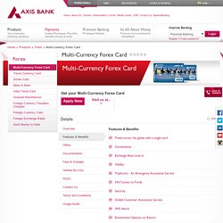Multi-Currency Forex Card - Axis Bank