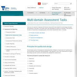Multi-domain Assessment Tasks