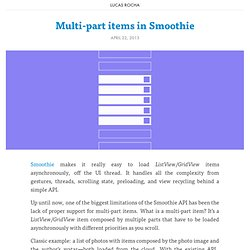 Multi-part items in Smoothie