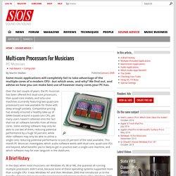 Multi-core Processors For Musicians | Sound On Sound